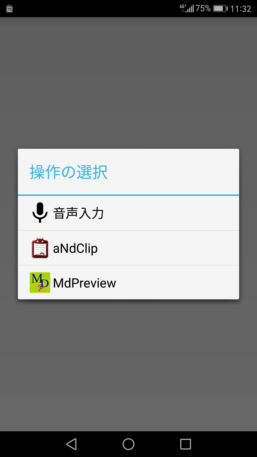 MDPreviewをタッチ