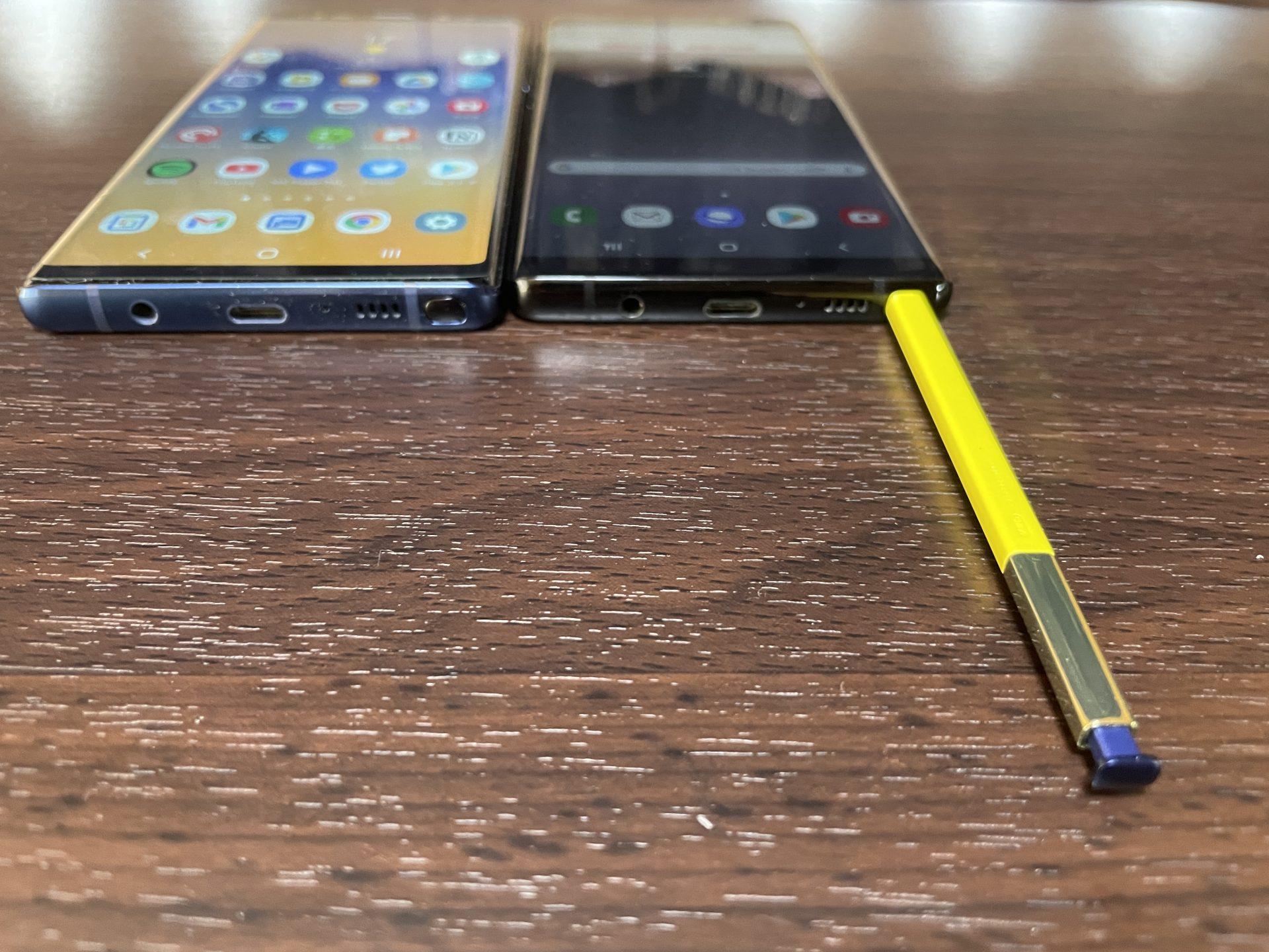 Galaxy Note9のSペンはNote8には入らない