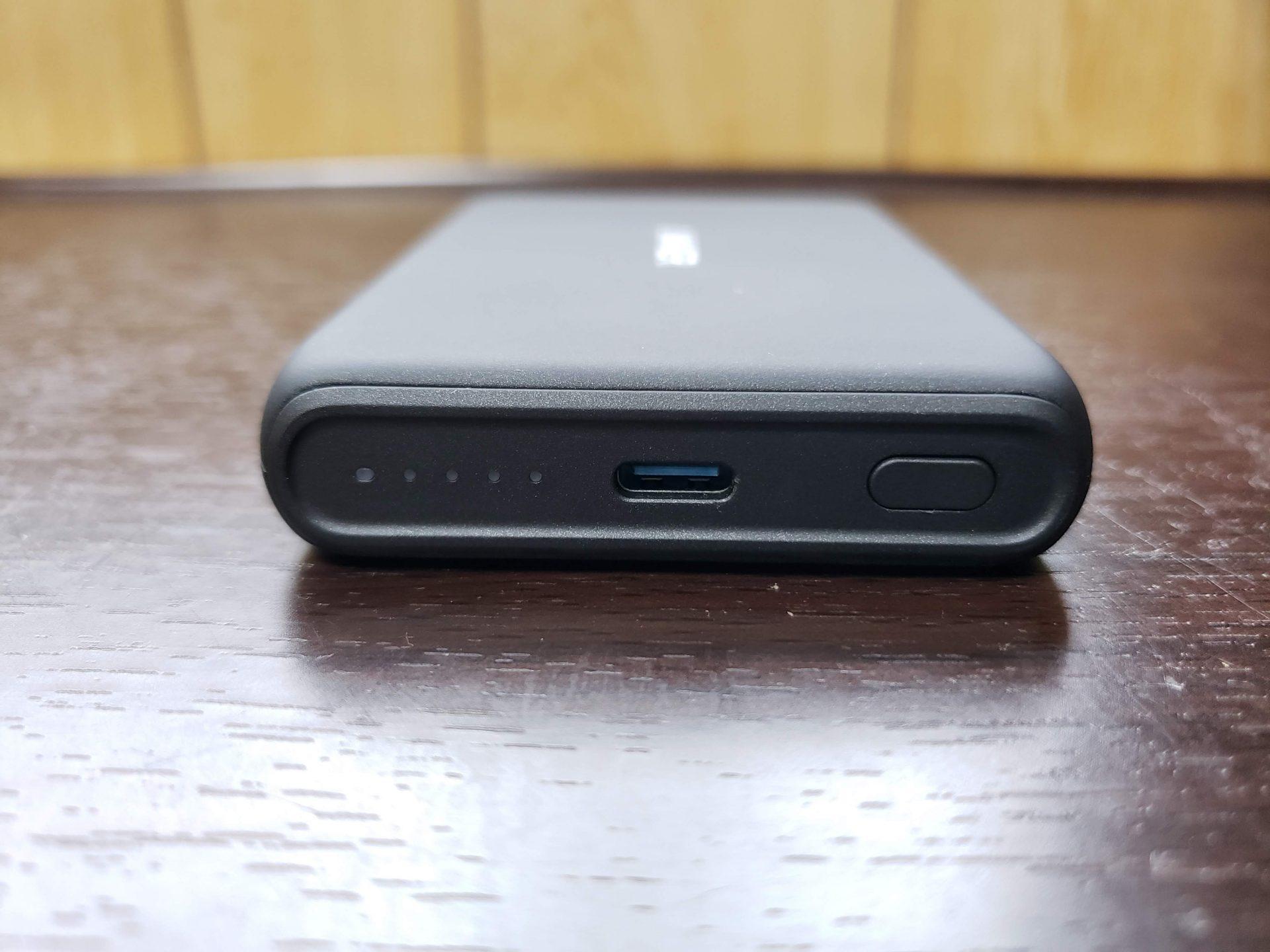 USB Type-Cで充電